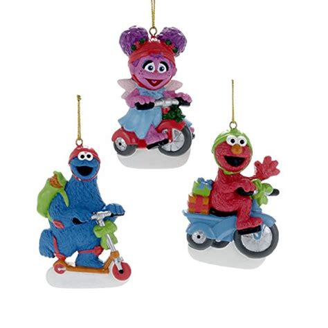 kurt adler christmas sesame yard characters sesame ornaments