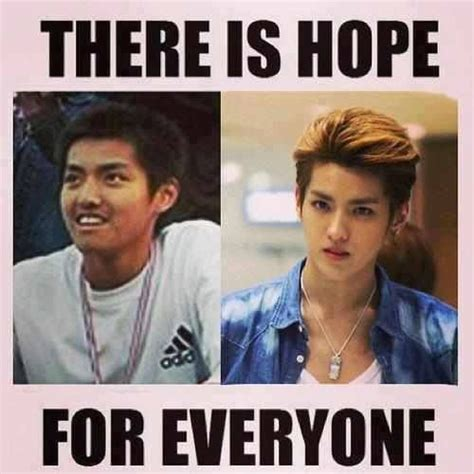 Korean Plastic Surgery Meme - exo s kris what a transformation o o haha amazing kris