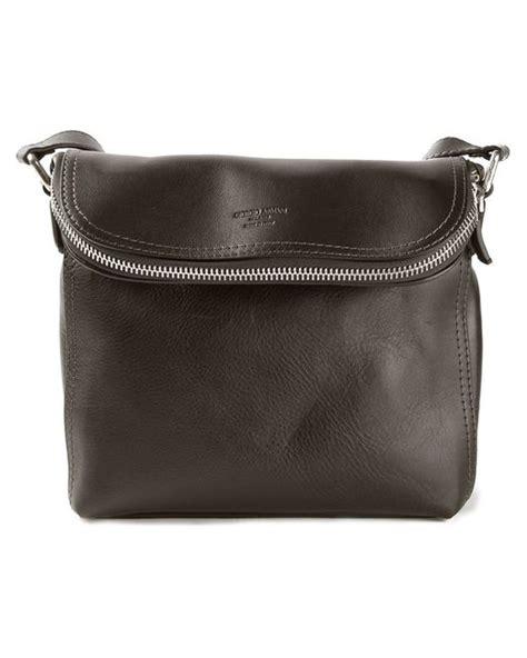 Bag Selempang Giorgio Armani 9661 giorgio armani messenger bag in brown for lyst