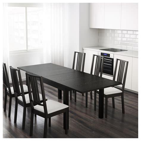 ingatorp extendable table black bjursta extendable table brown black 140 180 220x84 cm ikea