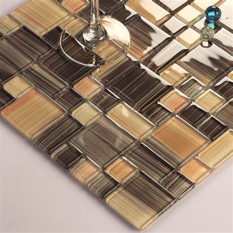 Set Tile Stik Bahar Murah by Metallic Mosaic Tile Sheets Glass Mosaic
