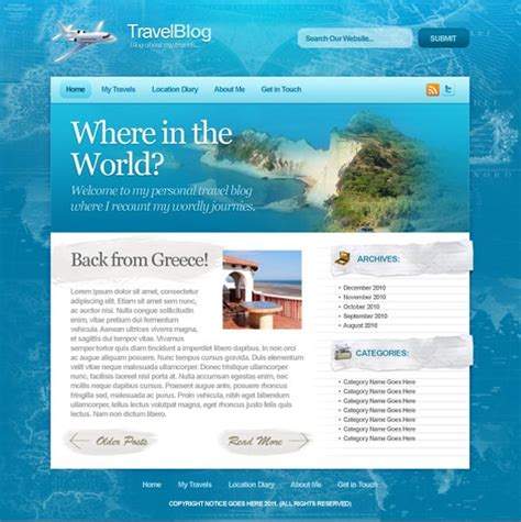 layout web travel create website layout in photoshop 50 step by step tutorials