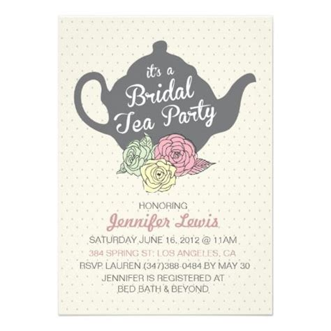 22 best images about tea party bridal shower invitations