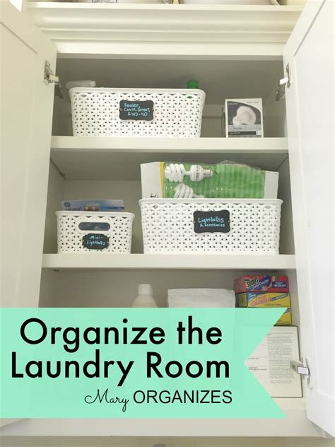 Depending On The Weather Where You Live You May Not Want Organizing Laundry Room Cabinets