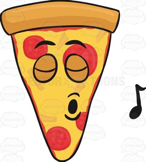 singing emoji cartoon clipart slice of pepperoni singing with