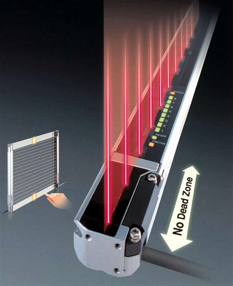 light curtain manufacturers new industry first safety light curtain with no dead zone