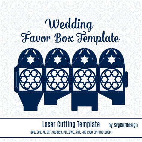 Wedding Box Template by Wedding Favor Box Template Islamic Pattern Commercial Use