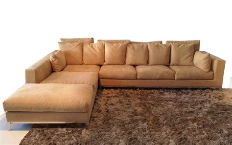 Large Sectional Sofa With Chaise Lounge Large Sectional With Chaise Lounge And Track Arms From Beige Fabric Metal