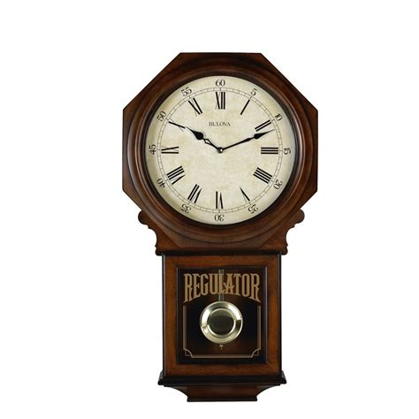Accent Home Decor by Bulova Regulator Wall Clock Ashford C3543