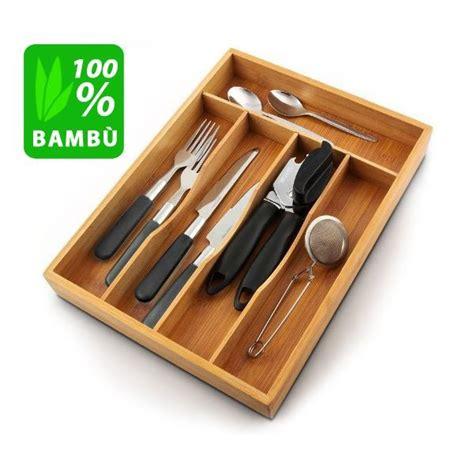 portaposate da cassetto in legno porta posate da cassetto accessori cucina in legno bambu