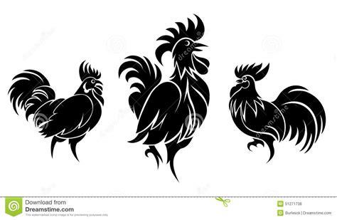 pelea de gallo s vector ensemble de silhouettes de coqs illustration de vecteur