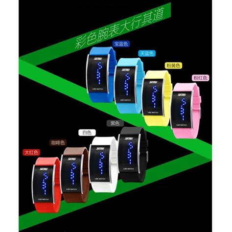 Jam Tangan Led Skmei Sport Trendy Led Display Water Resistant skmei jam tangan led 0805a2 pink jakartanotebook
