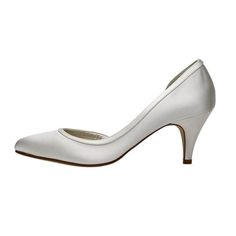 Rainbow Schuhe Ivory by Rainbow Club Abbie Ivory Satin Court Shoes Shoes Co Uk