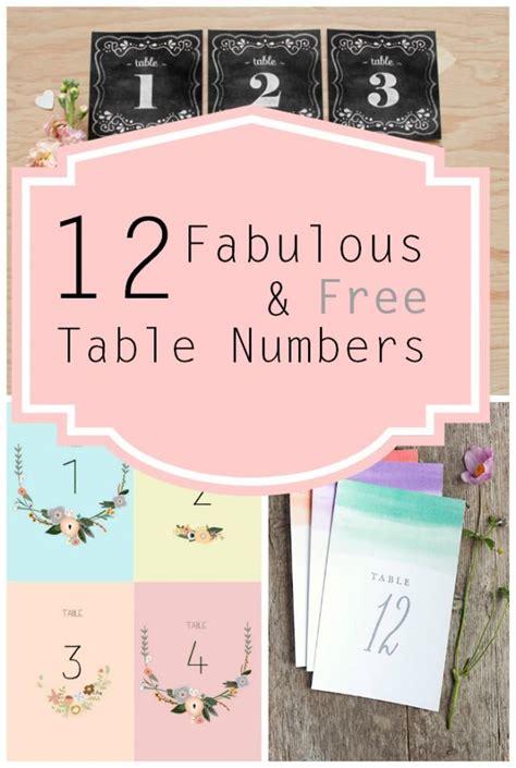 printable table numbers free printable table numbers weddbook