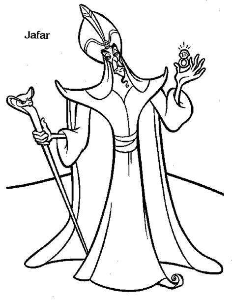 Free Printable Quot Jafar Quot Aladdin Cartoon Kids Coloring Aladin Coloring Pages