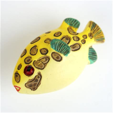 fish drawer pulls cabelas m5031 small fat yellow fish with brown spots cartoon resin