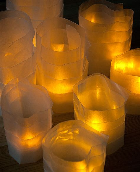 How To Make Paper Lanterns For Candles - diy wax paper candleholders design sponge