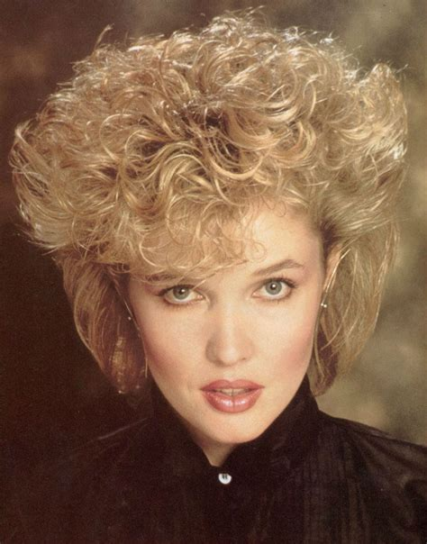 permed hairstyles 80s perm short hair women dark brown hairs