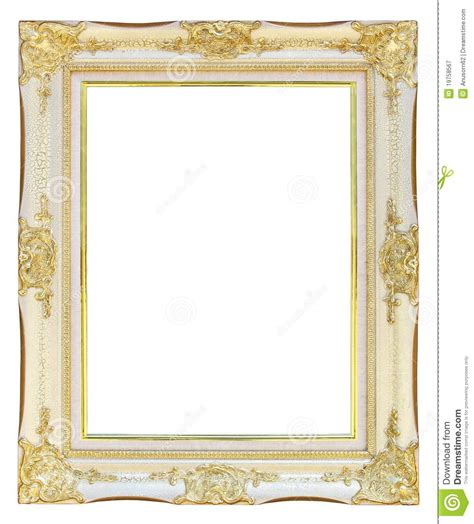 White Gold Photos by White Gold Picture Frame Royalty Free Stock Photography