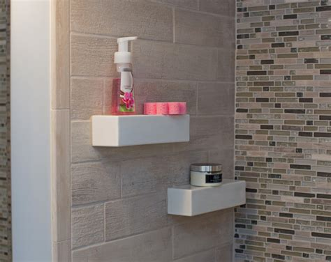 bathroom tile store bathroom niche shelf store modern dc metro by