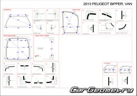 peugeot bipper dimensions кузовные размеры peugeot bipper 2008 2014 body dimensions