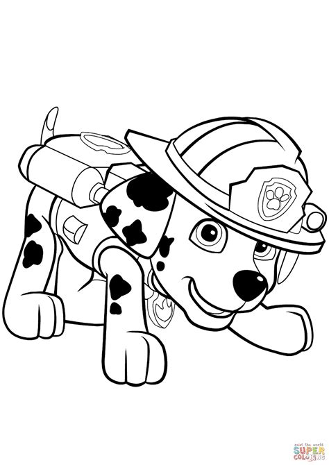 coloring page for paw patrol marshall paw patrol coloring pages printable print