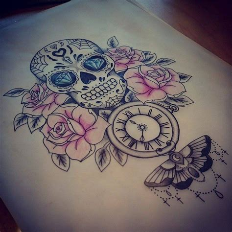 candy tattoo designs skull update by kohlmeisen on deviantart