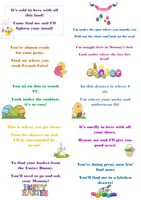 easter scavenger hunt make this easter egg stra special with egg hunt riddles