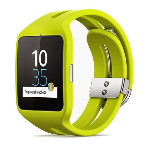 sony mobile smartwatch sony mobile montre connect 233 e smartwatch 3 sport jaune