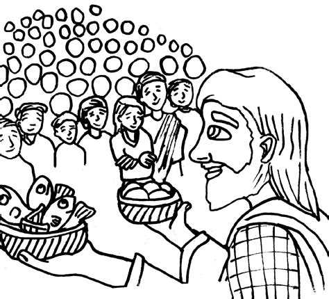 coloring pages jesus feeds 5000 ldsfiles clipart jesus feeds 5000 coloring page