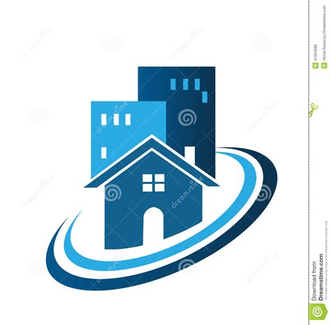 Blue House Realty by Blue Real Estate House Logo Stock Vector Image 41064588
