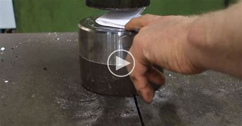Folding A Paper More Than 7 Times - uses hydraulic press to try and fold a sheet of paper