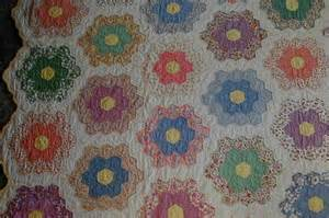 Grandmothers Flower Garden Quilt Pattern Stencils Patterns And Designs On