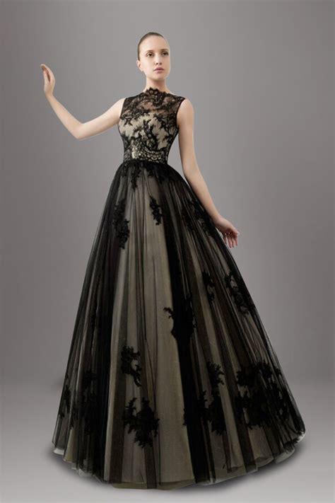 hochzeitskleid in schwarz black sleeveless lace wedding dress with ball gown ipunya
