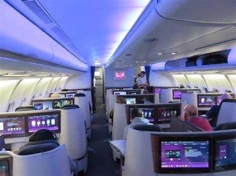 Qatar Airways Interior Review Qatar Airways Airbus A330 Business Class Luxury