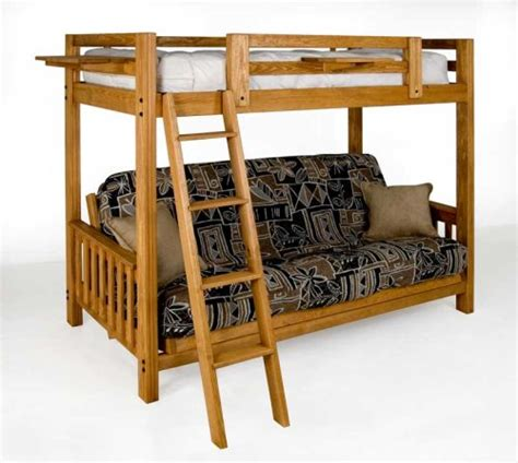 extra long futon twin over queen bunk bed