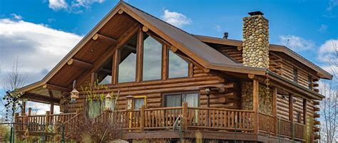montana chalet meadowlark log homes