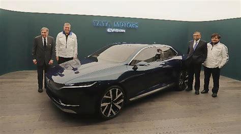 e visio tata unveils evision sedan concept at geneva motor show