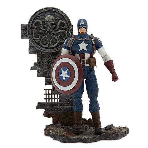 Marvel Select Captain America Disney marvel and disney store exclusive marvel select black panther and captain america the toyark