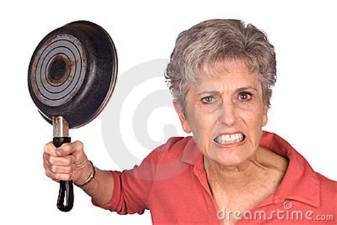 Angry Mother And Frying Pan Stock Image - Image: 8683851 Horse Background Clipart