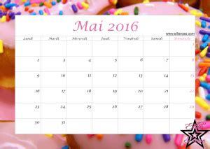 mai calendrier 2016 calendrier gratuit 224 imprimer donuts 2016