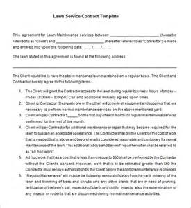 lawn care contract template 7 lawn service contract templates free word pdf