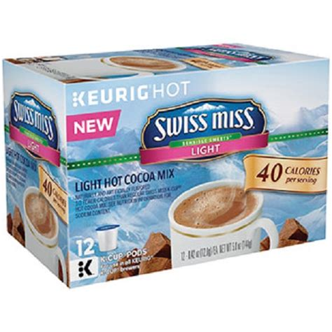 Swiss Miss Light Cocoa Mix Keurig K Cups Ebay