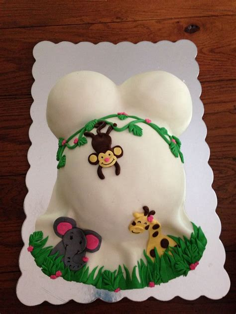 Jungle Themed Cakes Baby Shower by 25 Best Ideas About Baby Belly Cake On Belly
