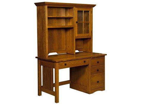 Computer Desks Amish Furniture By Brandenberry Amish Mission Desk With Hutch