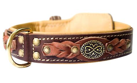 Handcrafted Leather Collars - handcrafted leather collar for pitbull c43 1072