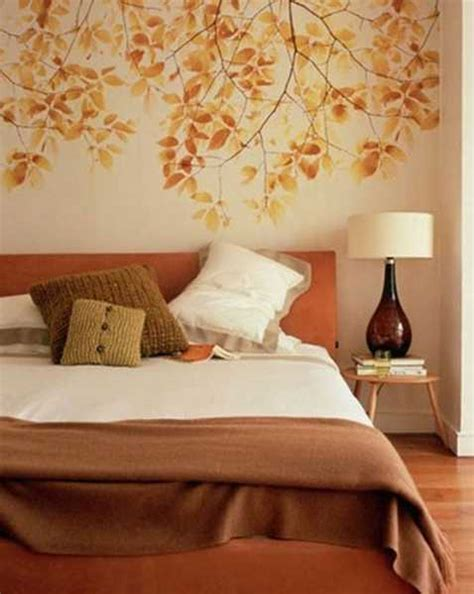 Orange Bedroom Wall Decor terracotta orange colors and matching interior design