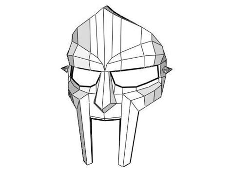 template of doom size mf doom mask free papercraft