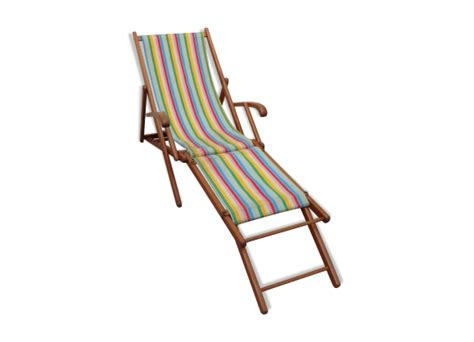 Chaise Longue Chilienne by Chaise Longue Chilienne Bois Mat 233 Riau Multicolore