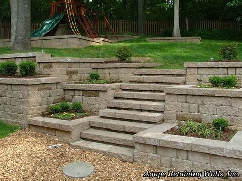 pictures of garden retaining walls agape retaining walls inc terrace photo album 3